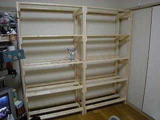 木製ラック・娘用玩具棚